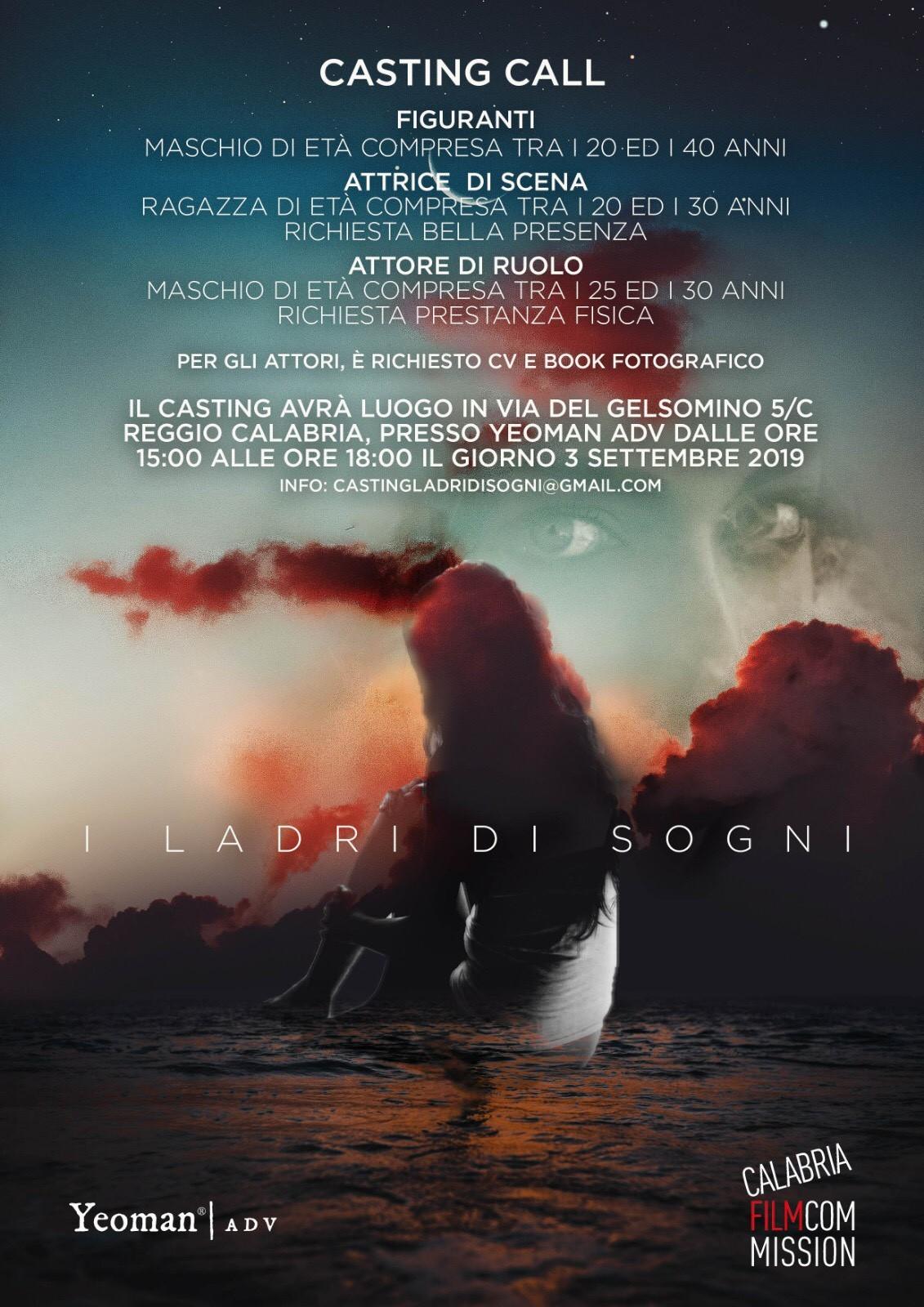 """Casting per il corto """"i ladri di sogni"""" di Maurizio Vittoriosi"""