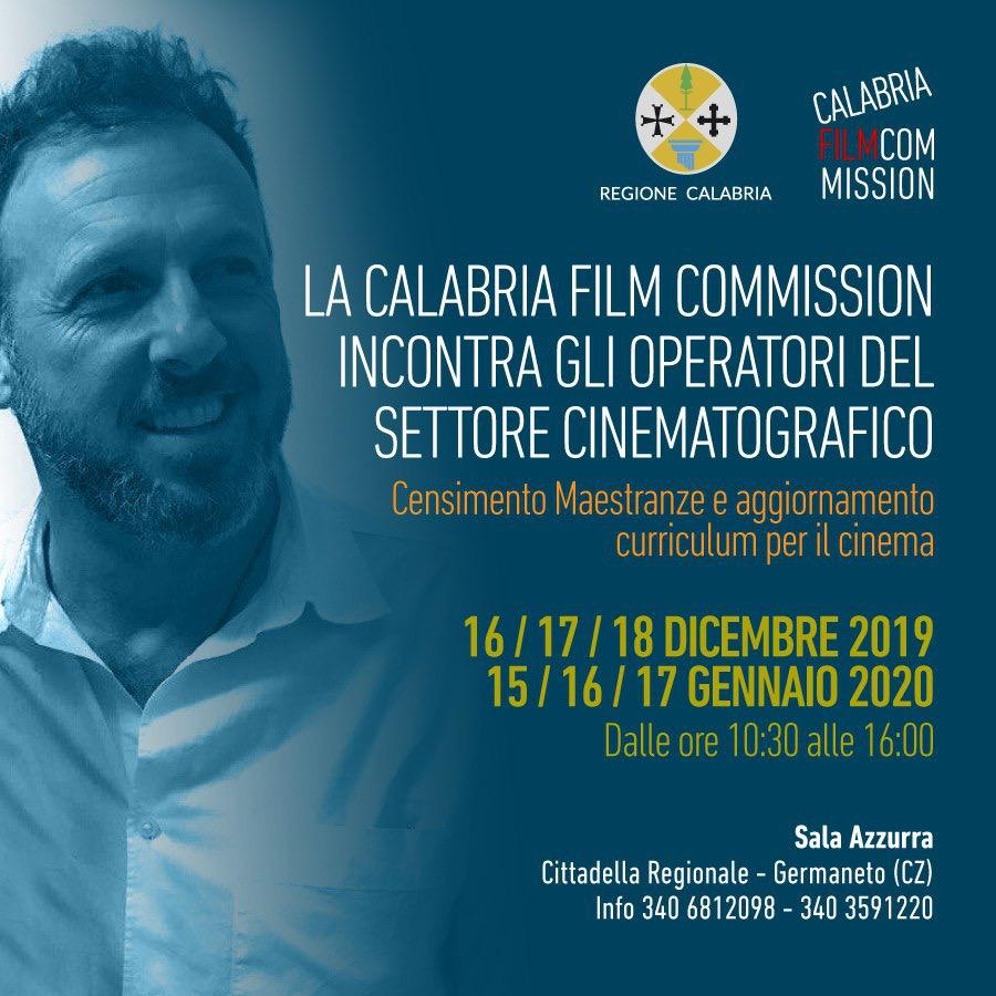 La Calabria Film Commission avvia il censimento delle maestranze cinematografiche