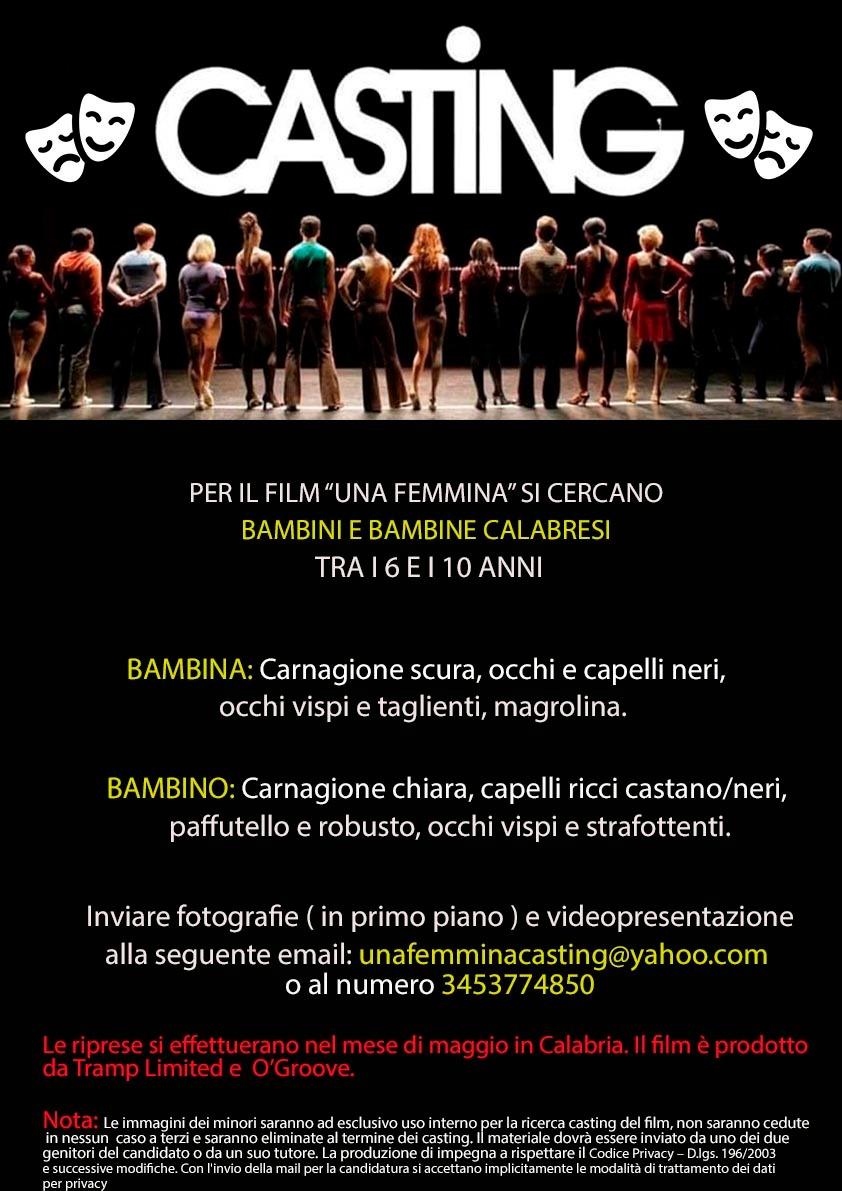 Locandina Casting Una Femmina